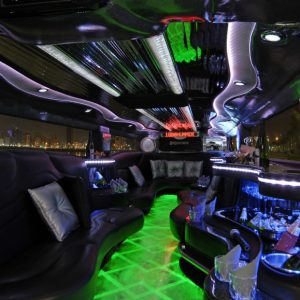 Hummer Limo Black Interior 1