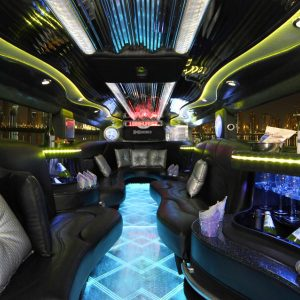 Hummer Limo Black Interior 2