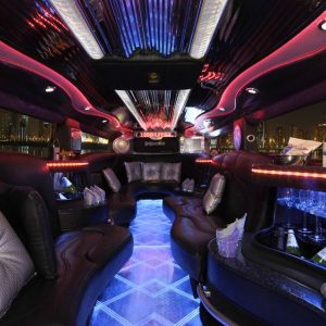 Hummer Limo Black Interior 3