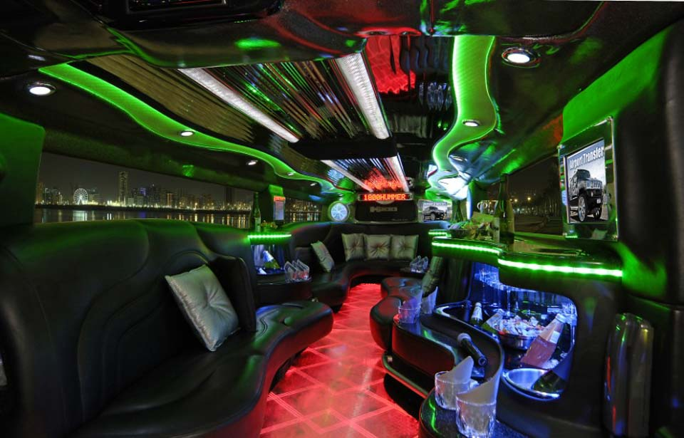 Inside of HUMMER limo in melbourne with the best price